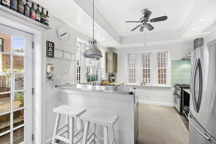 renovated kitchen in Brooklyn townhouse